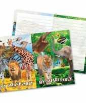 16x dieren verjaardag uitnodigingen 27 cm