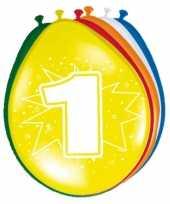16x party ballonnen 1 jaar opdruk