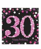 16x servetten 30 jaar geworden