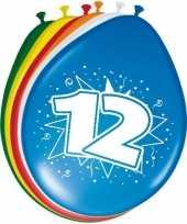 16x stuks gekleurde ballonnen 12 jaar