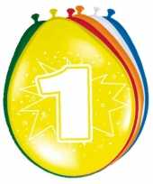 16x stuksparty ballonnen 1 jaar opdruk