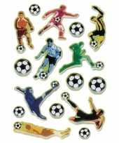 16x voetbal stickertjes voor kinderen