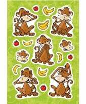 17x aapjes met fruit stickertjes voor kinderen