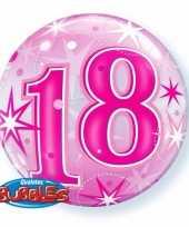 18 jaar folieballon 55 cm met helium 10089063