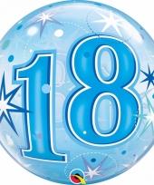 18 jaar folieballon 55 cm met helium