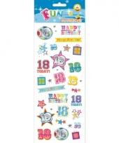 18 jaar geworden stickers