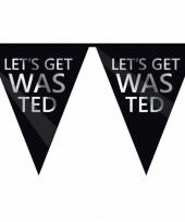 18e verjaardag feestvlaggenlijn wasted