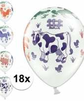 18x kinderboerderij ballonnen