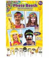 18x photobooth props hippie feestje