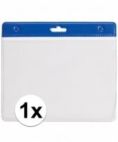 1x badgehouder voor aan een keycord blauw 11 2 x 58 cm