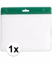 1x badgehouder voor aan een keycord groen 11 2 x 58 cm