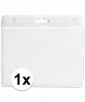 1x badgehouder voor aan een keycord wit 11 2 x 58 cm