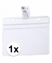 1x beurzen naamkaartjeshouder met klem 11 5 x 9 2 cm