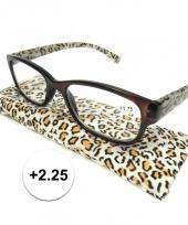 2 25 leesbrillen in tijgerprint