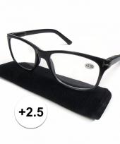 2 5 leesbrillen zwart