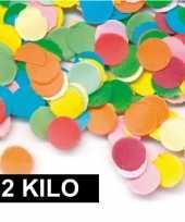 2 kilo zak feest snippers gekleurd