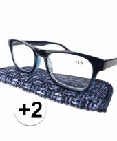 2 leesbrillen donkerblauw
