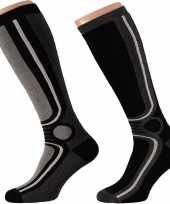2 paar thermo sport sokken zwart voor heren