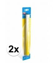 2 supporters fakkels geel 36 cm 60 sec