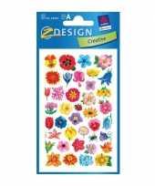 2 vellen met bloemen stickers 10062901