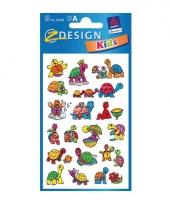 2 vellen met schildpadjes stickers