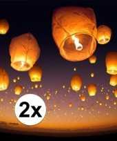 2 x grote witte wensballon 50 x 100 cm