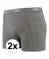 2 x mannen boxers grijs katoen pakket