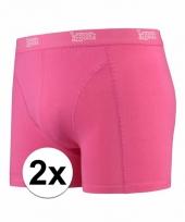 2 x mannen boxers roze katoen pakket
