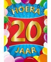 20 jaar thema mega deurposter