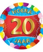 20 jaar verjaardag party viltjes