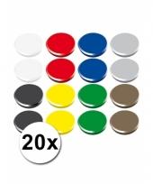 20 koelkast magneten 24 mm