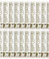 20x confetti knaller metallic goud zilver 26 cm 10133670