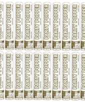 20x confetti knaller metallic goud zilver 26 cm