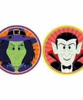 20x horror halloween versiering decoratie bierviltjes heksje vampiertje van karton