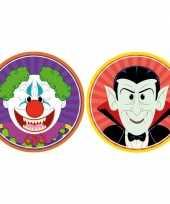 20x horror halloween versiering decoratie bierviltjes horror clowntje vampiertje van karton