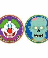 20x horror halloween versiering decoratie bierviltjes horror clowntje zombietje van karton
