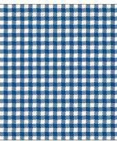 20x papieren servetjes blauw wit ruitjes print 33 x 33 cm
