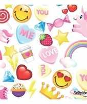 20x papieren servetjes emoticon candy thema 33 x 33 cm
