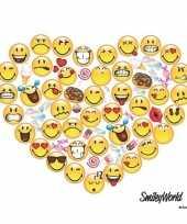 20x papieren servetjes emoticon smiley hart 33 x 33 cm