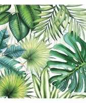20x papieren servetjes jungleprint 33 x 33 cm