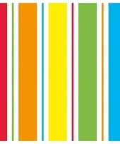 20x papieren servetjes regenboog kleuren print 33 x 33 cm