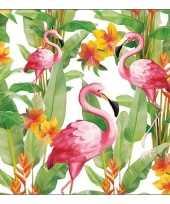 20x papieren servetjes tropische vogel print 33 x 33 cm 10136541