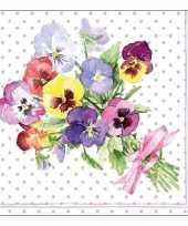 20x papieren servetjes violen print 33 x 33 cm