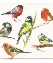 20x papieren servetjes zang vogel print 33 x 33 cm