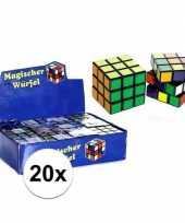 20x puzzels kubus 7 cm cadeautjes