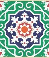20x tegelmotief servetten groen 33 x 33 cm
