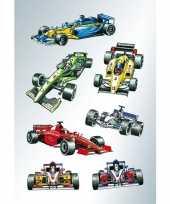 21x raceauto stickertjes voor kinderen
