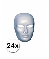 24 blanco maskers van heren gezicht