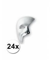 24 witte maskers half gezicht