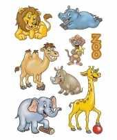 24x dierentuin dieren stickertjes voor kinderen